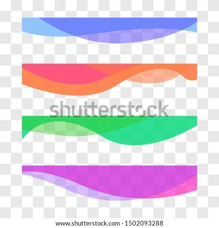 Wavy design element. Decor for brochure, banner, flyer. Fluid, color wave, curve line. Vector illustration ストックフォト ©