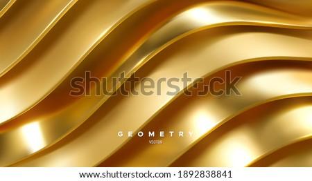 wavy golden ribbons minimalist
