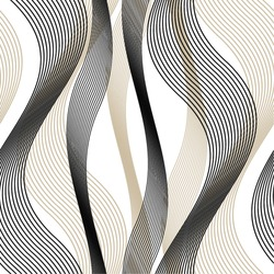 Wavy line pattern, mesh, curve, seamless vector background.