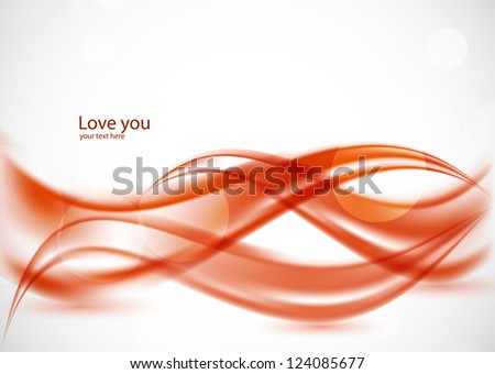 wavy red background abstract