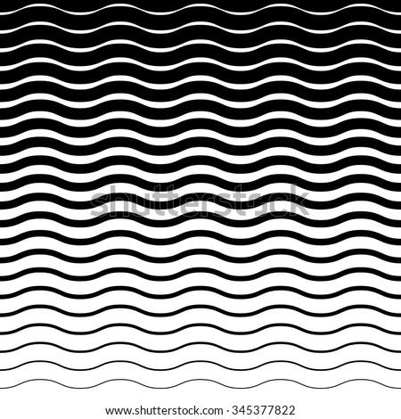 Wavy, zig zag horizontal lines. Horizontally seamless.