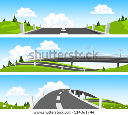 way through nature vector