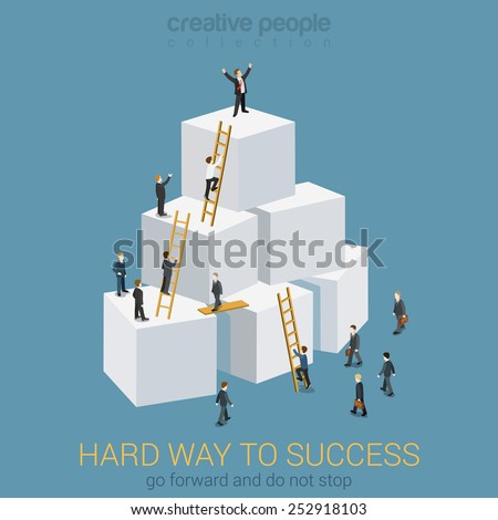 way to success in business flat