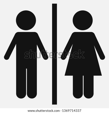 WC icon isolated on white background. Vector illustration.