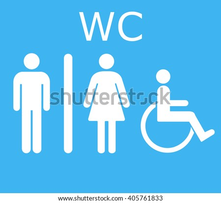 WC icon.Toilet icon vector