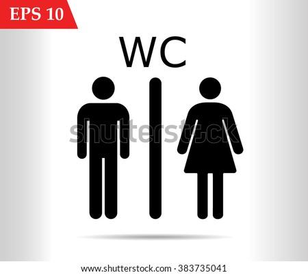 WC icon,toilet icon vector illustration