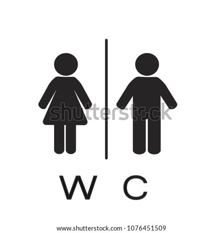 WC icon. Toilet women and men icon. vector illustration