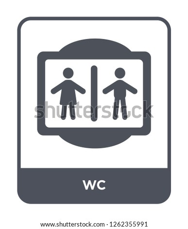wc icon vector on white background, wc trendy filled icons from Traffic signs collection, wc simple element illustration