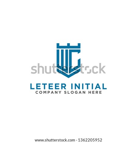 WC letters Initial icon / logo design Monogram inspiration. - vector