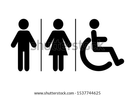 WC sign icon. Toilet symbol. Washroom vector icon