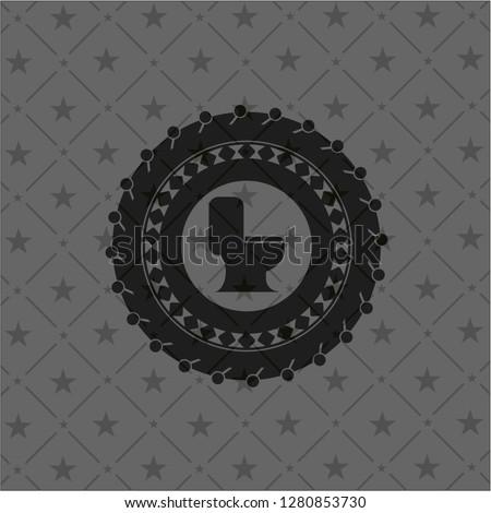 WC toilet icon inside retro style black emblem