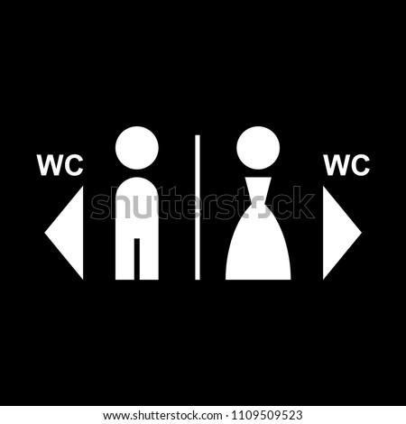 WC toilet icon vector