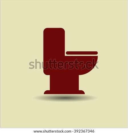 WC Toilet icon vector illustration