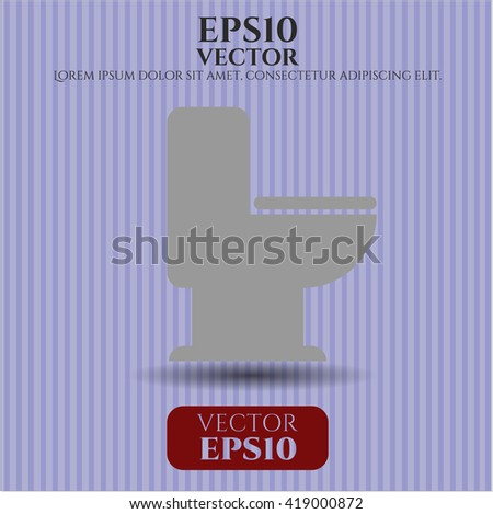 wc toilet icon vector symbol flat eps jpg app web concept