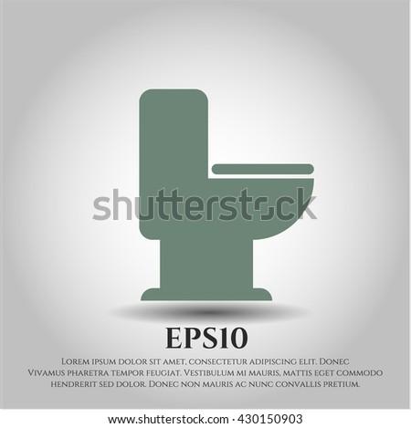 WC Toilet vector icon
