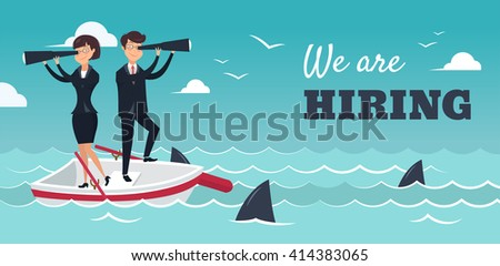 we are hiring banner vector