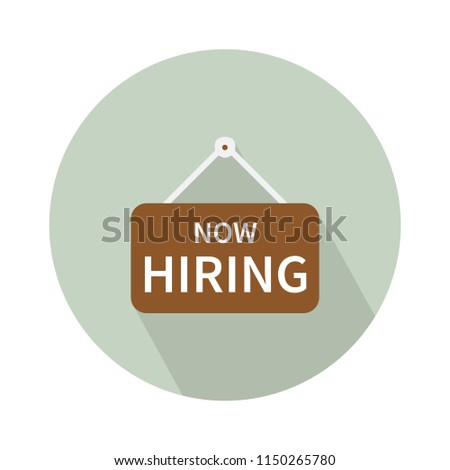 We Are Hiring Icon. Isolated Object. The concept of search and recruitment. Vector Illustration - Shutterstock ID 1150265780