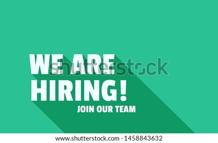We Are Hiring Icon. Isolated Object. The concept of search and recruitment. Vector Illustration. Stock photo ©