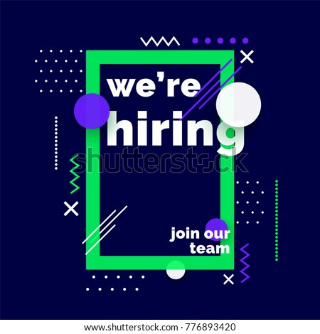 we are hiring  join our team