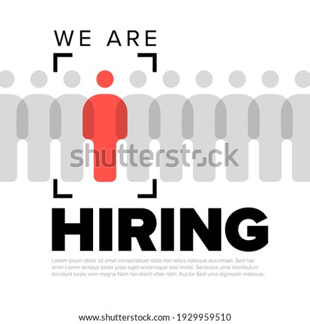We are hiring minimalistic flyertemplate - looking for new members of our team hiring a new member colleages to our company organization team