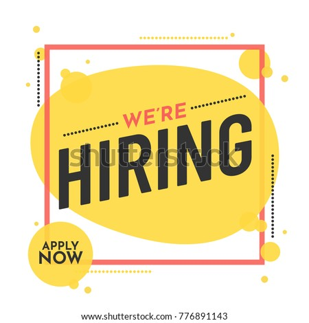 we are hiring poster or banner
