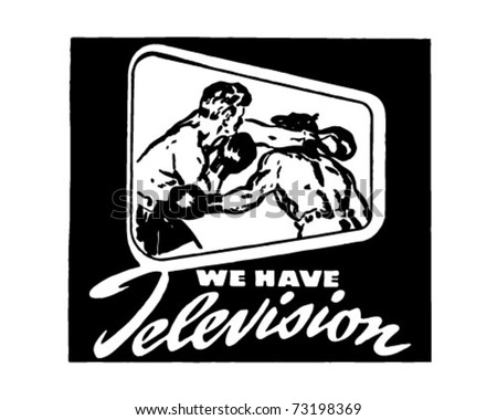 We Have Television - Retro Ad Art Banner