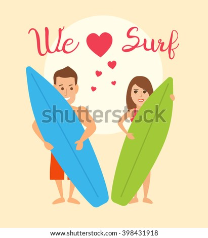 we love surf concept