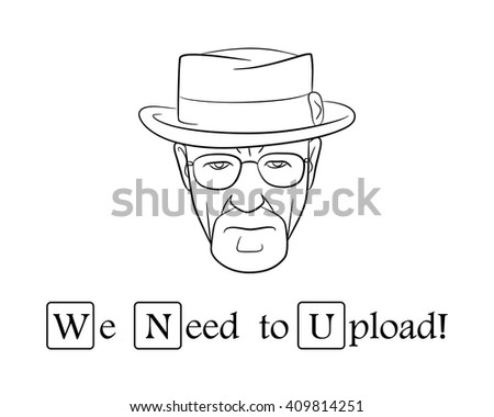 Stock Photo We need to upload.Vector illustration.