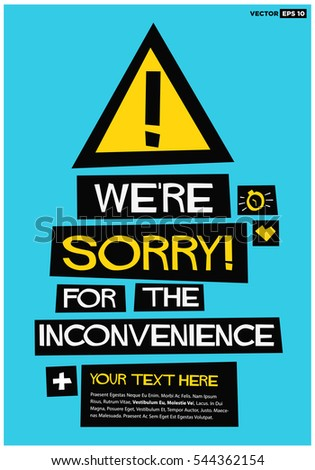 we're sorry for the