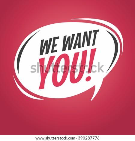 we want you cartoon speech