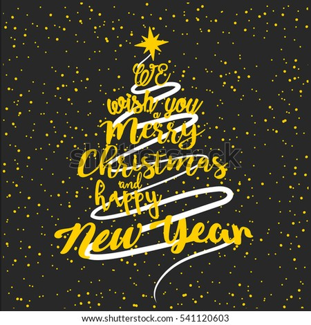 beautiful merry christmas greeting design with creative christma ...