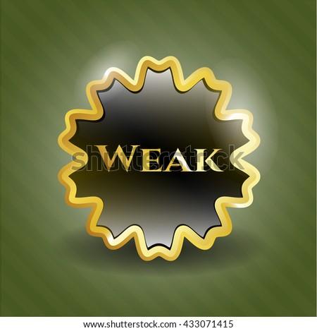 Weak shiny badge