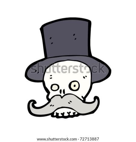 wealthy skull with mustache