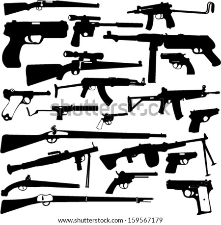 weapon collection   vector