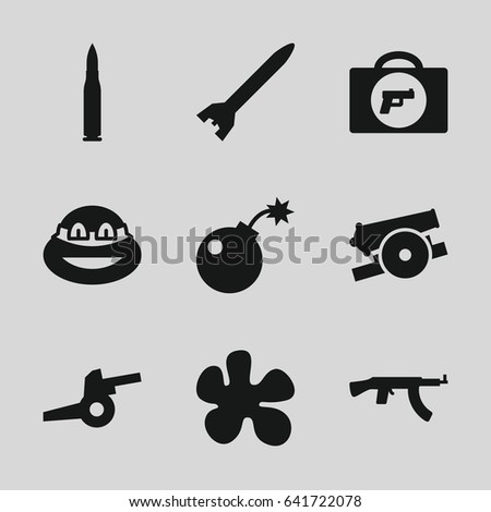 weapon icons set set of 9