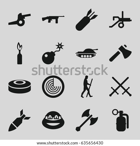 weapon icons set set of 16