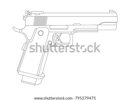 weapon illustration  vector