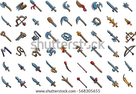 weapon rpg game set equipment