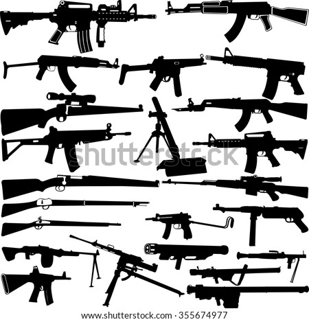 weapon silhouettes collection