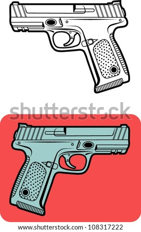 Weapon vector 1. Gun vector illustration, for game or any design you want. Easy to change color