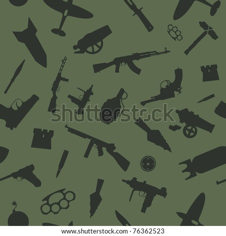 weapon vector seamless pattern