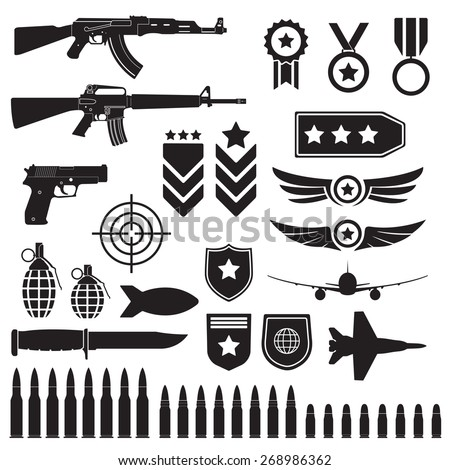 weapons and military set sub
