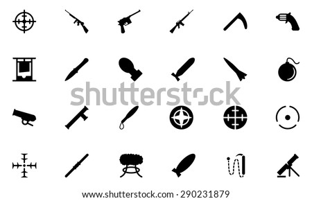 weapons vector icons 2