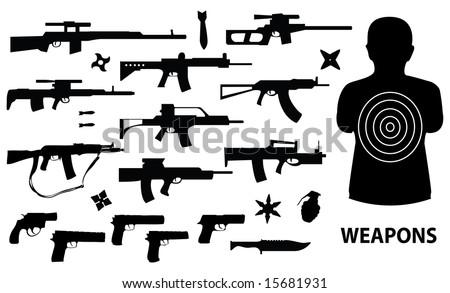 weapons vector set