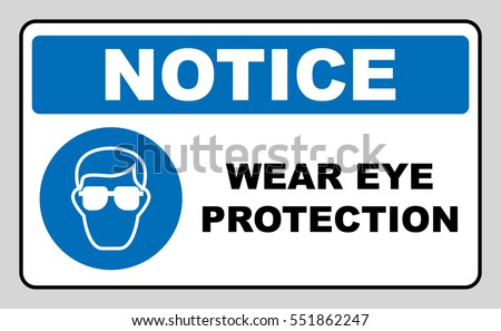wear eye protection sign