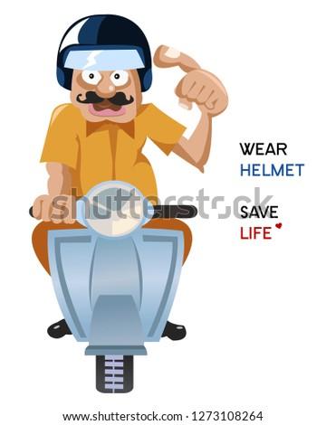 wear helmet save life character