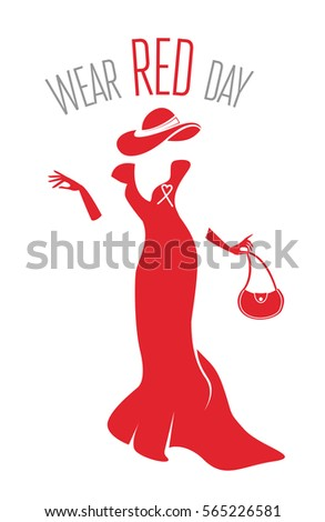 wear red day lady in red dress