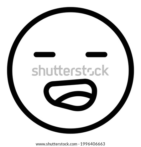 Weary face icon. Outline Weary face vector icon for web design isolated on white background Stock photo ©