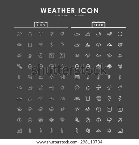 weather-bold-and-thin-line-icons