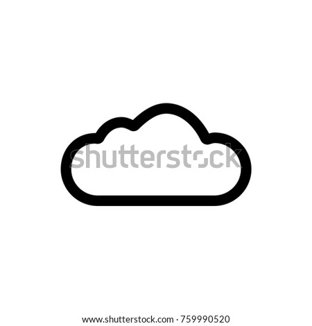 Weather Cloud Icon. Vector.